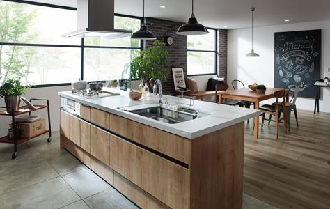 オープン対面キッチン センターキッチンアイランド型