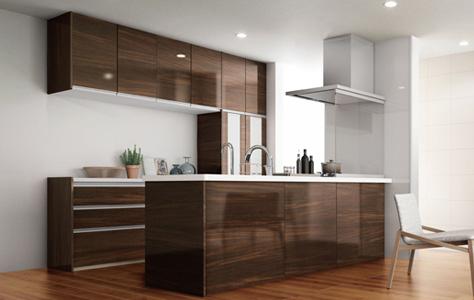 オープン対面キッチン センターキッチンペニンシュラI型