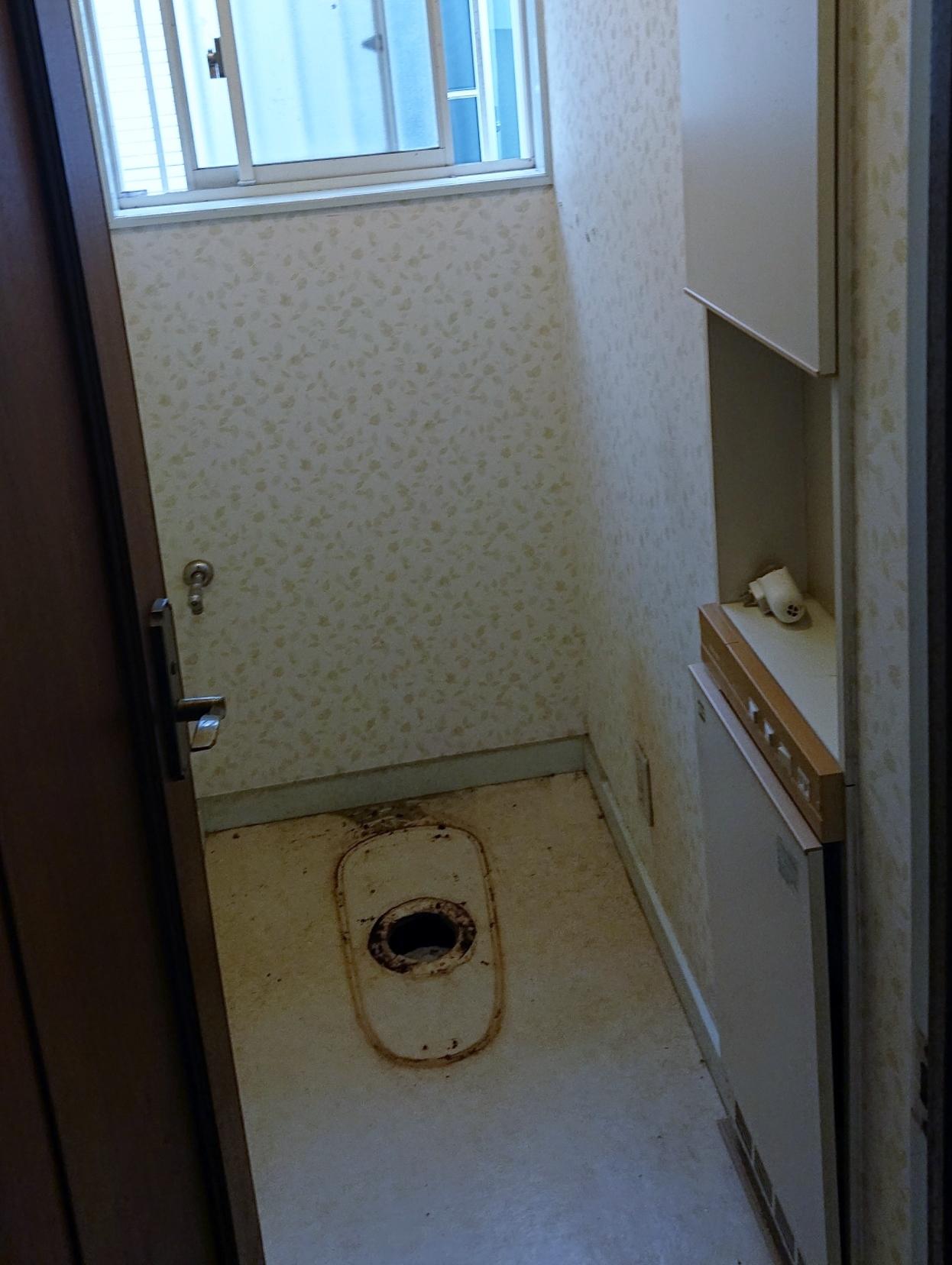 トイレ施工中